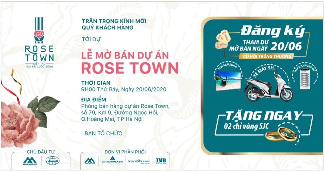 Chính thức mở bán Rose Town, dự án hot khu vực phía Nam Hà Nội